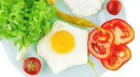 Примерное меню яичной диеты
