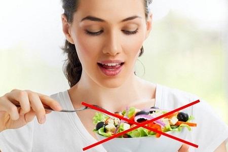 Бесшлаковая диета меню