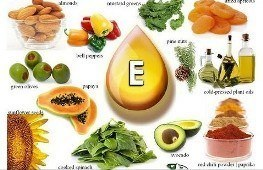 Содержание витамина Е в пищевых продуктах