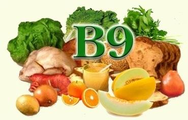 Продукты с большим содержанием витамина В9 фолиевой кислоты.