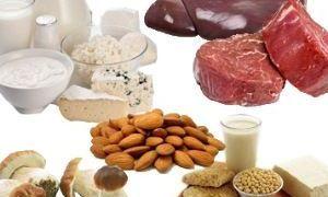 Продукты с большим содержанием витамина Н биотина.